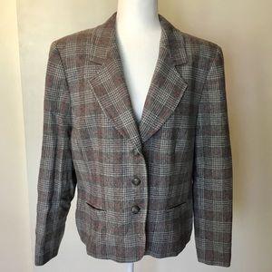 Pendleton Glen Plaid Wool Blazer - 18